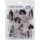 Stampers Anonymous Tim Holtz Cling Stamps 7X85 Leaf Prints