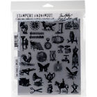Stampers Anonymous Tim Holtz Cling Stamps 7X85 Tiny Things 2