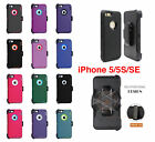 For iPhone SE 5s 5 Defender Case w Screen Protector Holster Clip Fits Otterbox