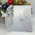 10pcs Vertical Laser Cut Butterfly Invitations Cards Kits Wedding Party Birthday
