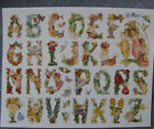 VIOLETTE STICKER PANEL HIGHLY DETAILED FAIRY and FLOWER ALPHABET