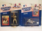 Rickey Henderson & Pedro Guerrero *** 2 Starting Lineup Baseball Figures & Cards