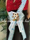 Baby Shower Mom To Be Its a Boy Sash Monkey Safari Blue Ribbon Corsage Noahs
