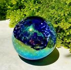 Glass Eye Studio Dichroic Glass Sculpture/Paperweight with Graduated Bubbles