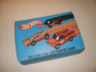 HOT WHEELS ORIGINAL VINTAGE 24 CAR COLLECTORS CASE w 15 CARS VG EX T21