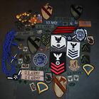 VINTAGE LOT OF OVER 80 US ARMY NAVY MARINES AIR FORCE PATCHES PINS