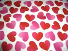 Valentines 1 Hearts Pink Red White Cotton Quilt Fabric BTY