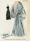 1946 Vintage VOGUE Sewing Pattern B36 EVENING DRESS GOWN 1255