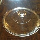 Round clear glass lid Marked Corning New York #8