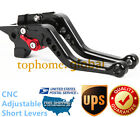 For Suzuki GSF600S BANDIT 1996-2003 Short Clutch Brake Levers CNC Black US 01 02