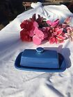 FIESTA NEW LAPIS blue  EXTRA LARGE BUTTER DISH  PLATE Fiestaware