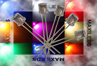 10x 5mm LED Flattop molto luminoso diodo Resistore 5mm