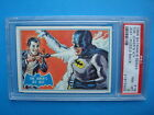 RARE Topps 1966 *BATMAN - Blue Bat* PSA 8 Key Card # 1B Puzzle JOKER Dark Knight