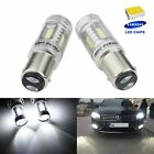 2x 1157 380 BAY15d SAMSUNG LED 15W Tail Stop Brake Reverse Light Lamps DRL White