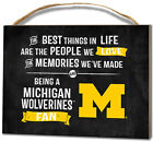 Michigan Wolverines Small Plaque Best Things NEW NFL Sign Wall Wood Decor
