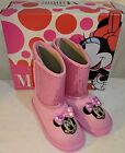 TODDLER Girls Size 11 Disney Minnie Mouse Pink Sparkly Mickey Winter Boots NEW