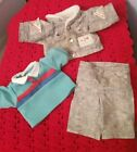 Cabbage Patch Kids Vintage 1989 Designer Line 3pc Boys Gray outfit *GUC