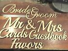 Free standing Mr  Mrs Cards Guestbook Bride Groom Favors wedding signs cutouts