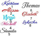 1 PERSONALIZED VINYL NAME DECAL STICKER UP TO 10 CHARACTERS