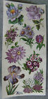 VIOLETTE STICKER PANEL DETAILED PURPLE FLOWERS ALL DIFFERENT ALL GORGEOUS