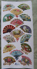 VIOLETTE STICKER PANEL DETAILED VICTORIAN DECORATED FANS ALL DIFFERENT