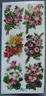 VIOLETTE STICKER PANEL 6 EXTRA LARGE BOUQUETS ALL DIFFERENT FLOWERS MAY DAY