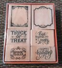 Cute Set 6 Of Halloween Crafts Rubber Stamps