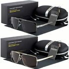 Classic Aviator Retro Mens Fashion Metal Vintage Designer Polarized Sunglasses