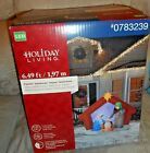 Holiday Living Projection Kaleidoscope Airblown Inflatable Nativity Scene NEW