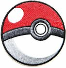 Pokeball Pokemon Game logo Embroidered Iron On Sew On Patch