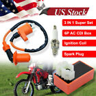 Racing AC CDI Box 6 Pin+Ignition Coil +Spark Plug for GY6 50 150cc Moped Scooter