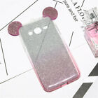 Glittery Disney Ears Mickey Minnie Mouse Samsung S6 S7 Edge Case/Cover Strap UK!