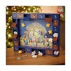 Kurt Adler J3767 Wooden Nativity Advent Calendar with 24 Magnet Free Shipping