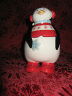 FITZ & FLOYD COOL CHRISTMAS CUTE PENQUIN LIDDED BOX - NEW - RETIRED