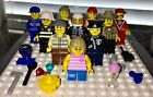 LEGO Lot Mini Figures Minifigs City Pirate Girl Police Fire U Get What's Shown P