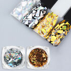 New 1 Box Laser Nail Sequins Holographic Gold Silver Glitter Paillette Flakes