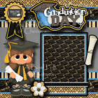 GRADUATION DAY girl 2 Premade Scrapbook Pages paper piecing layout album CHERRY