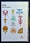 FLEUR DE LIS COLLECTION 1 21 design Embroidery Take Out CD sewing machine NIP