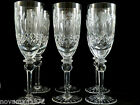 6 Rogaska Crystal Glass Tall Continental Champagne Flute Goblets Glasses Queen