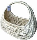 WICKER BASKET WHITE GONDOLA BAG HIGH HANDLE FOR ARM