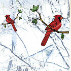 CLRWND Cardinal Bird Stained Glass Style Vinyl Window Decal YYDC CHOOSE SIZE