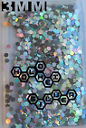 Silver 008 Solvent Resistant Body Safe Holo Chunky Nail Art Glass Deco Flake
