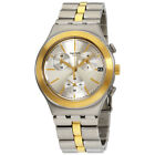 Swatch Irony Glamaster Silver Dial Stainless Steel Men's Watch YCS592G