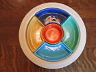 Vintage Fiesta Ivory Relish Tray-Complete 6 color set- Excellent