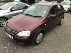 LARGER PHOTOS: 2004 VAUXHALL CORSA LIFE 16V RED only 66000 miles 99 starting  no reserve