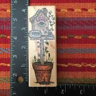 Hero Arts Tall Potted Birdhouse Rubber Stamp