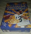 Full unopened collectible 2002 Kurt Warner's CrunchTime Cereal Box SHIPPING INCL