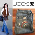 JOES JEANS VINTAGE SERIES 1971 in HEN rainbow embroidered retro wide leg jeans