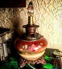 Antique Victorian 1880s Hurricane Lamp Eureka GWTW Parlor Oil Lamp Electrified