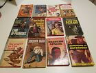 LOT OF 12 VINTAGE WESTERN PAPERBACK BOOKS 1950S 1960s